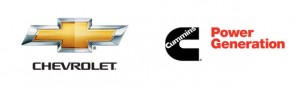 Chevrolet and Cummins Power Generation logos